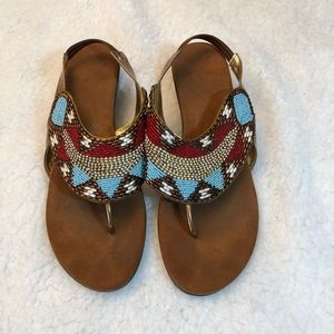 Beaded Sandals 39 Euro 9 US